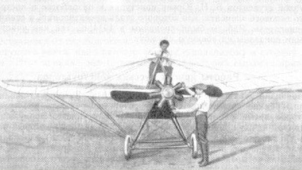 1.Самолет Канар-1бис. Вид сзади.