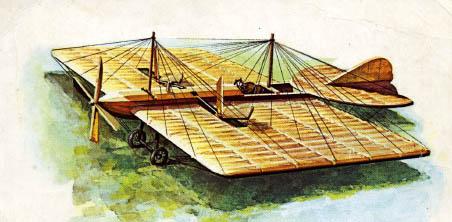1.Самолёт Можайского. Зарисовка.