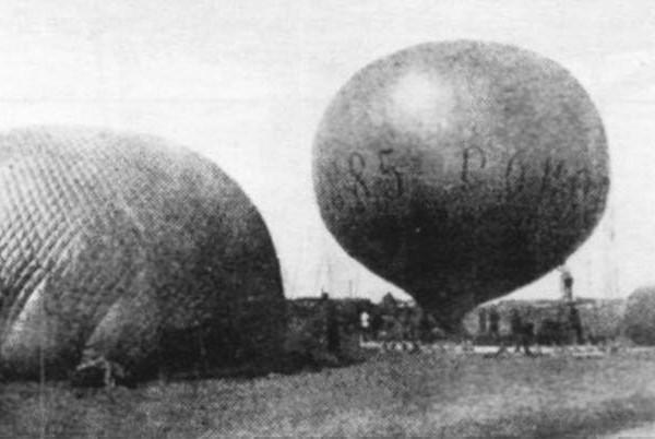1.Подъем воздушного шара Сокол. 1885 г. Санкт-Петербург.