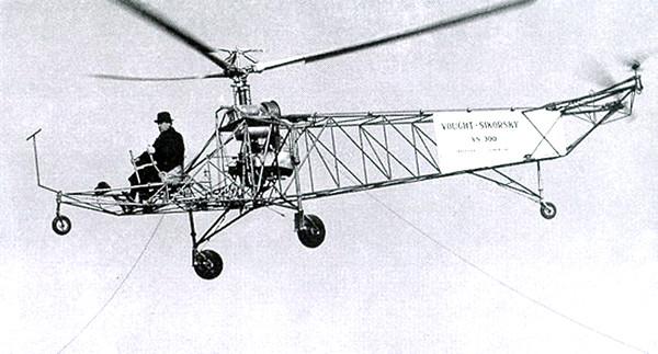 10.Вертолёт Vought-Sikorsky 300.