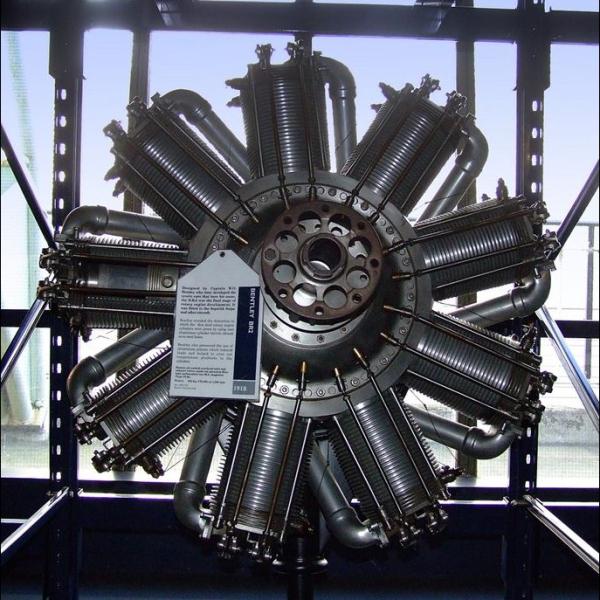 15.Ротативный двигатель Bentley BR2.