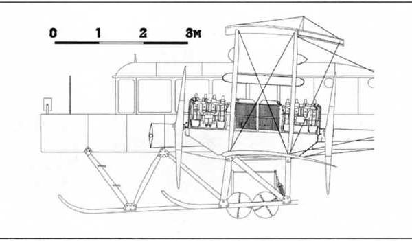 19б.Гранд Балтийский с тандемным расположение моторов Argus. Схема.