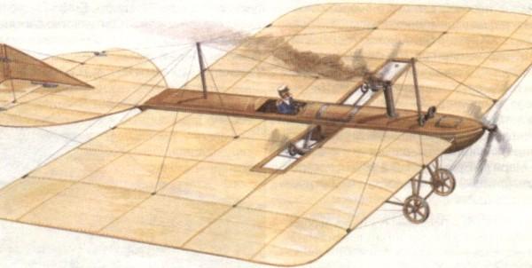 2.Воздухолетательный снаряд А. Можайского. Рисунок.