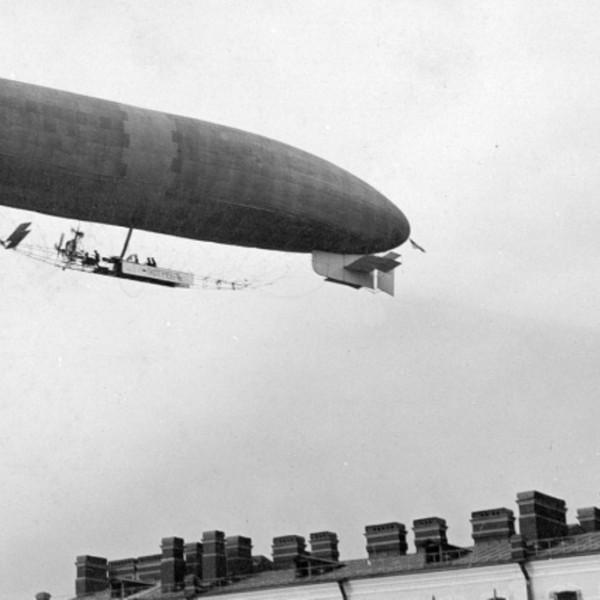 2.Первый полёт дирижабля Ястреб. 1910 год..