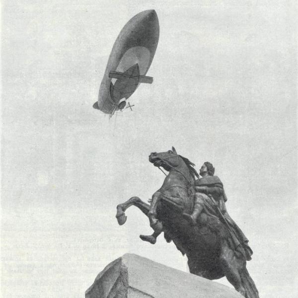 4.Полет дирижабля ЛЕБЕДЬ над Петербургом. 1911 г.
