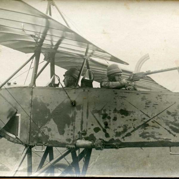 8.Morane-Saulnier L российских ВВС. Летнаб с пулеметом Madsen.