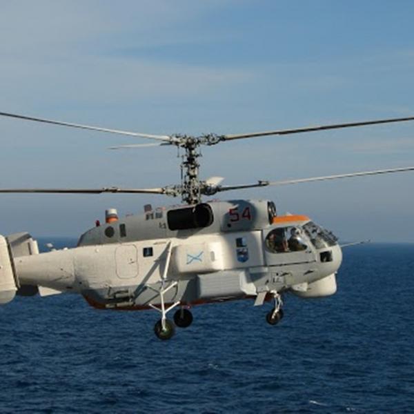 1.Ка-27ПС заходит на посадку.