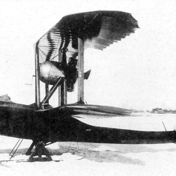 1.Летающая лодка ВМ-5 на лыжном шасси. Март 1919 г.