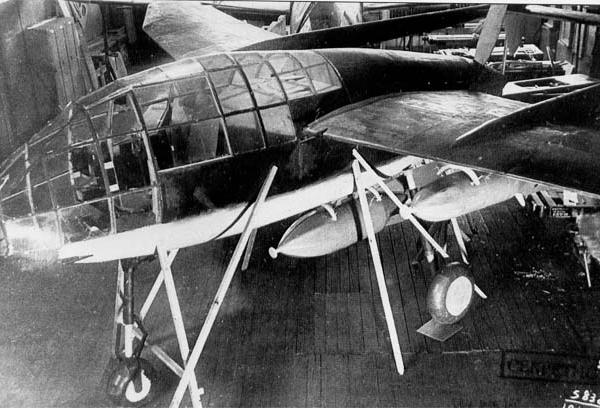 1.Макет самолета ПБИ в цехе Московского авиазавода № 156. 19 июня 1940 г.