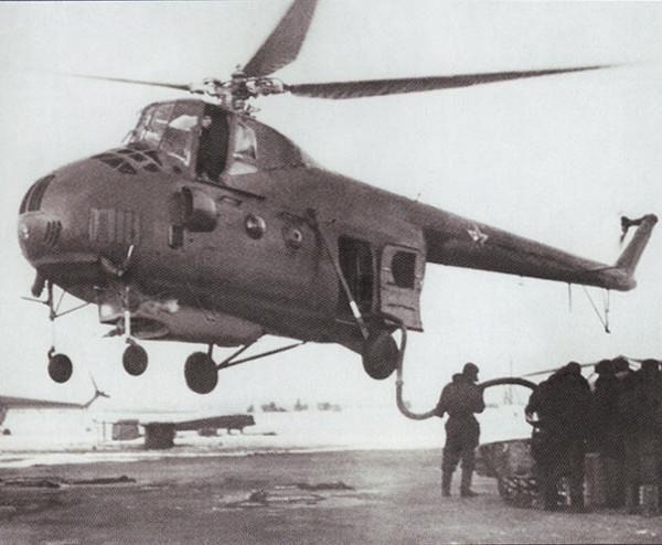 1.Заправка Ми-4Л огнегасящей жидкостью на режиме висения.