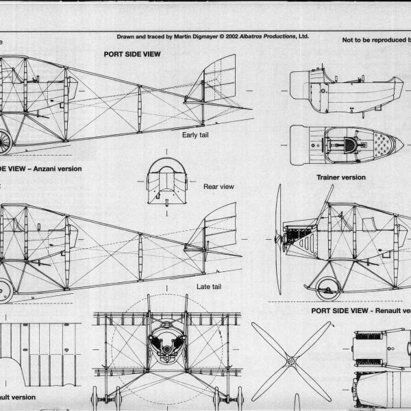 11.Caudron G.III. Схема 3.