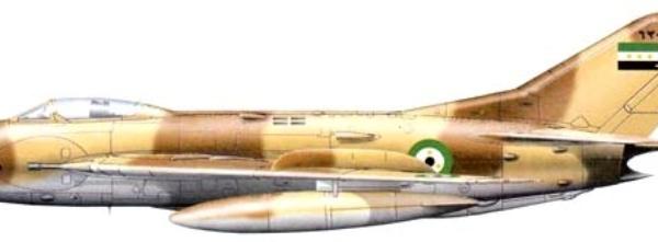 11.МиГ-19С ВВС Сирии. Рисунок.