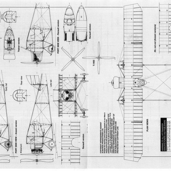 12.Caudron G.III. Схема 4.