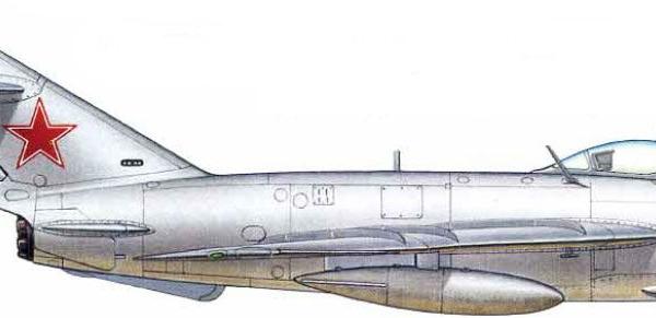 12.МиГ-17ПФ ВВС СССР. Рисунок.