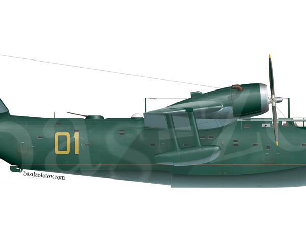 12д.Бе-6 авиации ВМФ СССР. Рисунок.