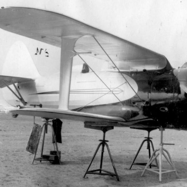 13.Опытный И-153 с мотором М-63 на нивелировании.
