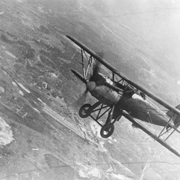 14.Истребитель И-3 в полете.