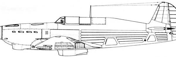 14.Як-7Б поздних серий. Схема.