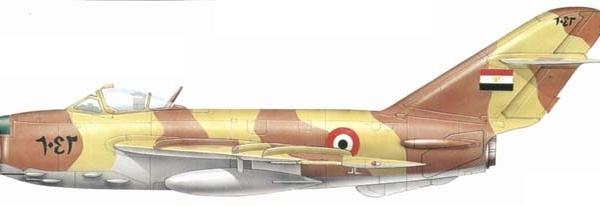 14а.МиГ-17ПФ ВВС Египта. Рисунок.