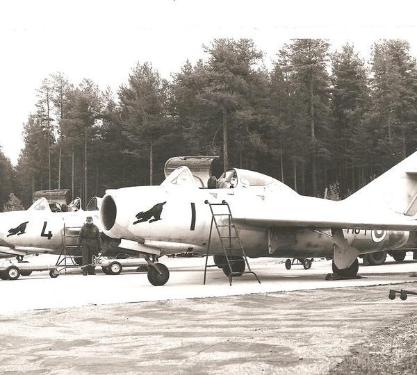 14б.МиГ-15УТИ ВВС Финляндии.
