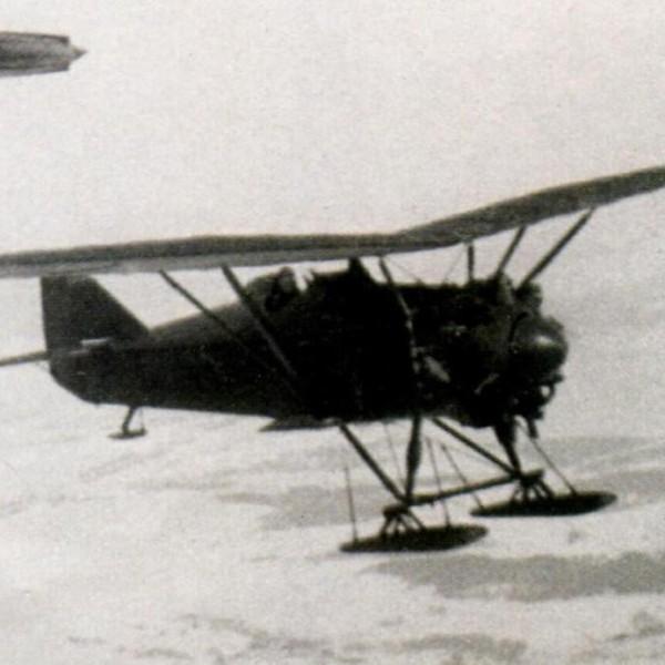 16.И-4 из состава Звена вскоре после отцепки от носителя.