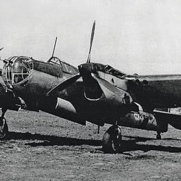18.СБ-2М-104А на стоянке.