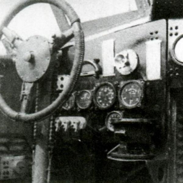 18.Штурвал и приборная доска командира.