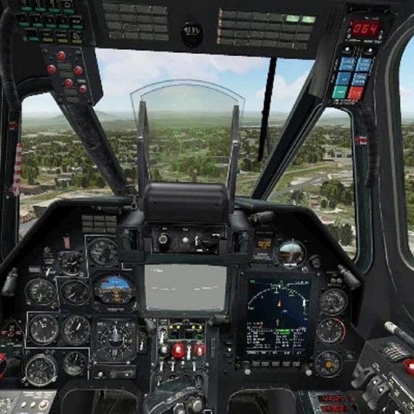 18.Вид из кабины Ка-50.