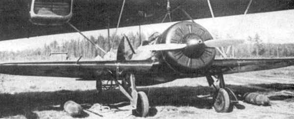 19.И-16 тип 5 под крылом носителя ТБ-3. Рядом б. 250