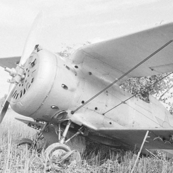19а.И-153 после вынужденной посадки.
