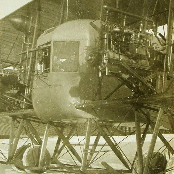 1а.Носовая часть самолета Илья Муромец серии Б с двигателями Argus.