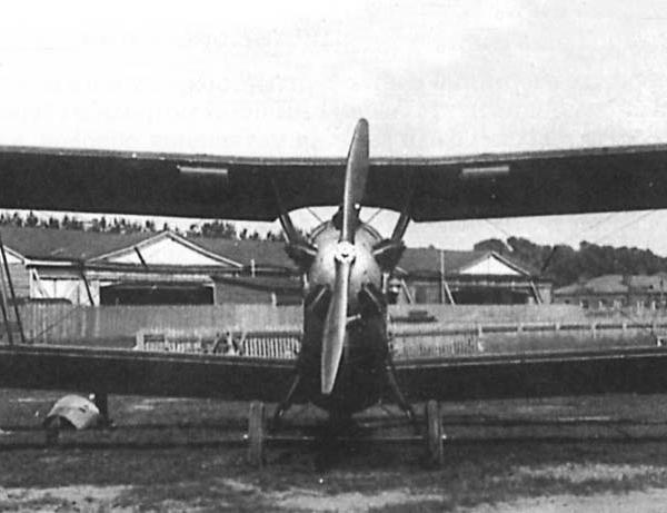 1б.Первый опытный У-2. Вид спереди.