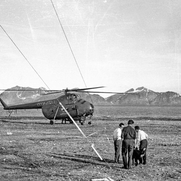 1д.Ми-4 Аэрофлота на Шпицбергене. 1965 г. 2