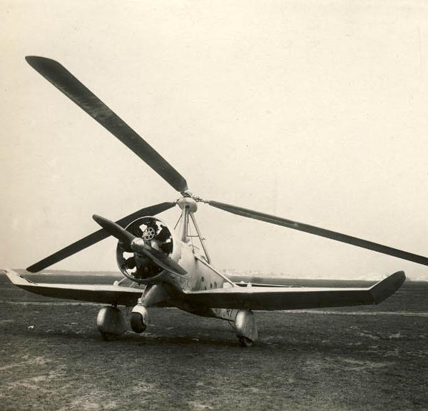 1г.Автожир А-7бис с мотором М-22 и 3-хлопастным ротором. 1936 г.