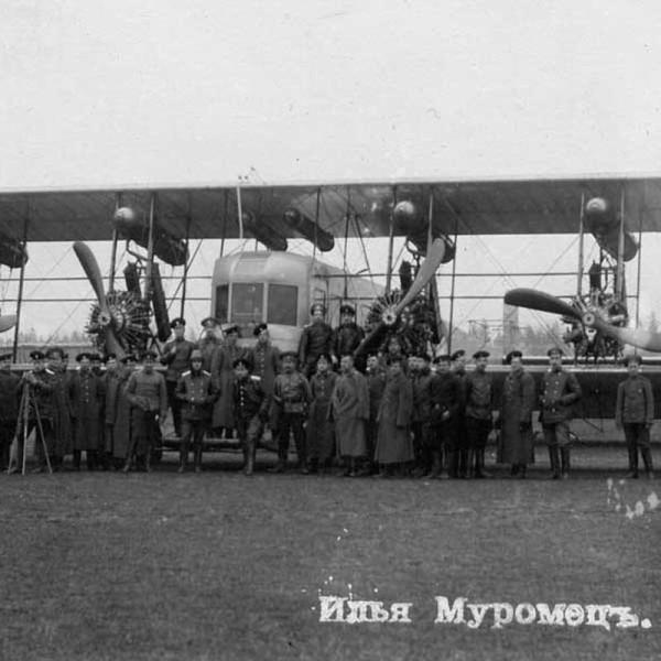 1г.ИМ серии Б с дв. Сальмсон на фронтовом аэродроме. Осень 1916 г.