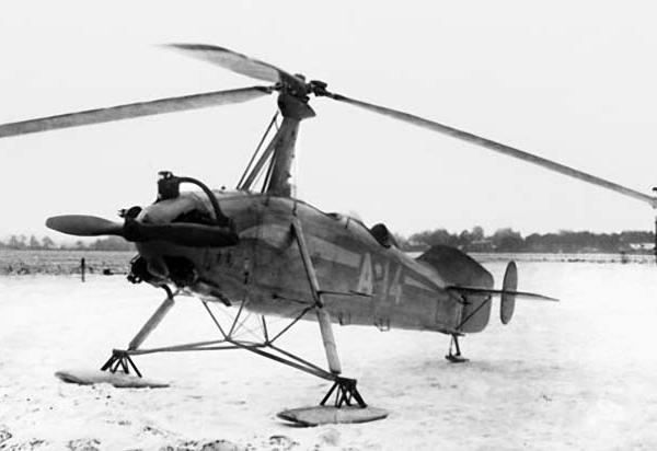 2.Автожир А-14 в процессе испытаний на лыжном шасси на аэродроме Ухтомка под Москвой. 16 января 1937 г.
