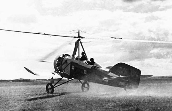 2.Автожир А-4 на взлете.