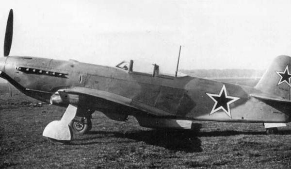 2.Истребитель Як-9П на испытаниях в НИИ ВВС. 1947 г.
