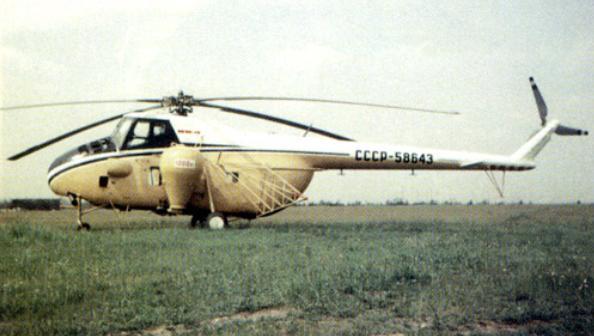 2.Ми-4С (СХ) с оборудованием для опыления.