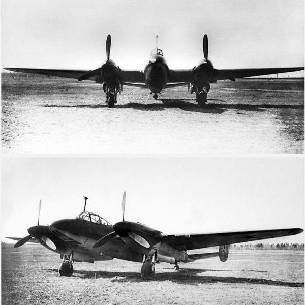 2.Первый экземпляр Пе-2И.