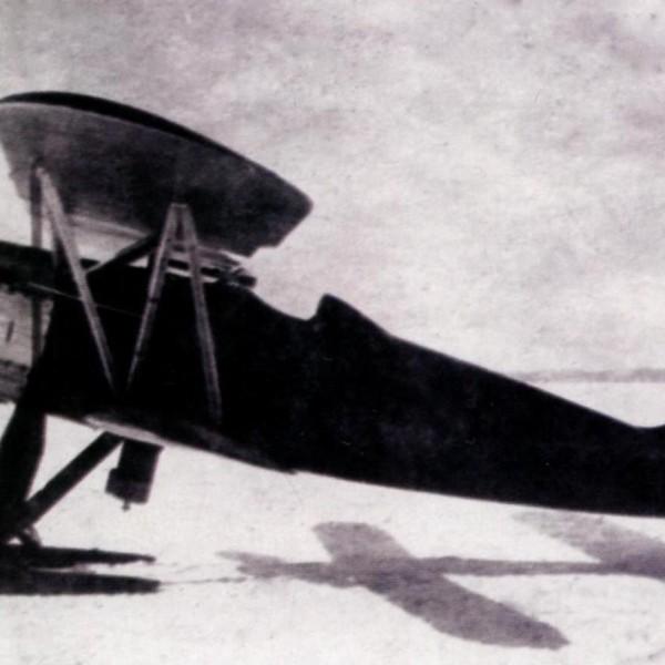 2.Первый опытный экземпляр И-3 на лыжном шасси.