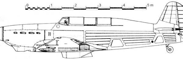 2.Як-7М. Схема.