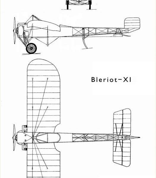 20.Bleriot XI-2. Схема