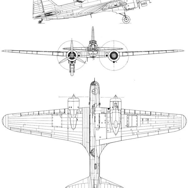 20.ДБ-3 2М-85 (ЦКБ-30). Схема