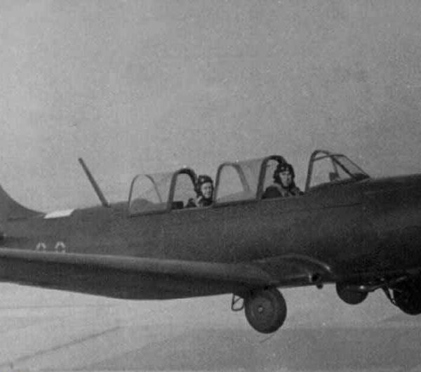 20.Як-18А в полете. Тамбовское ВВАУЛ. 1963 г.