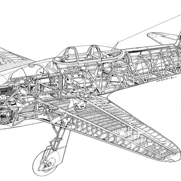 22.Компоновочная схема Як-15. 2