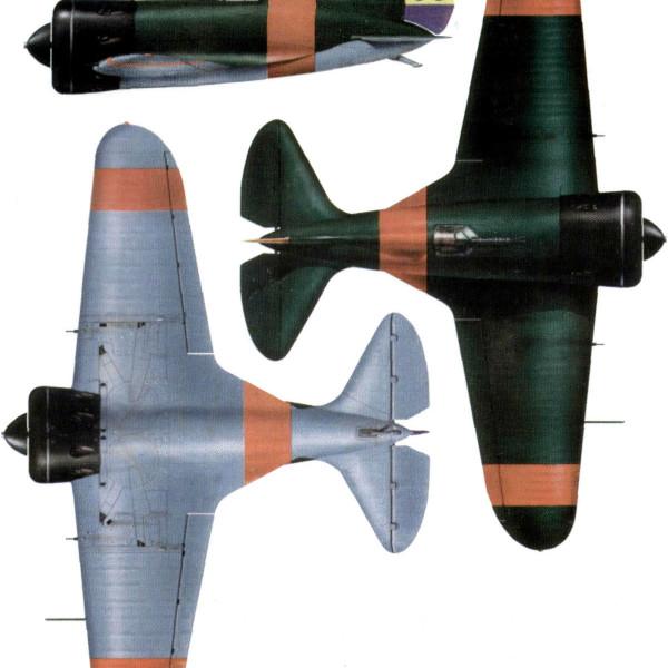 22.Проекции И-16 тип 5 ВВС республик. Испании. Рисунок.