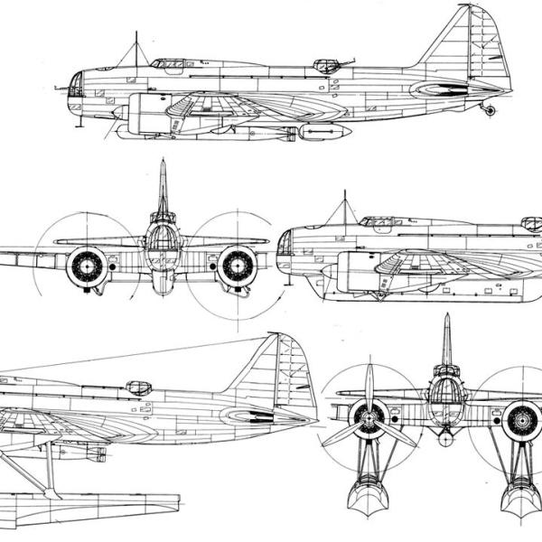 23.ДБ-3Т. Схема