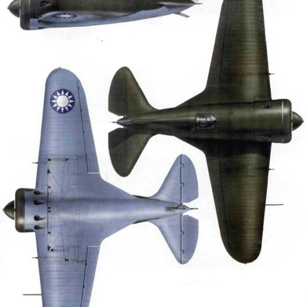 23.Проекции И-16 тип 5 ВВС Гоминьдана. Рисунок.