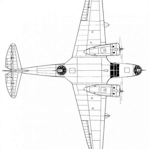 23б.МДР-6 М-25Е. Вид сверху.